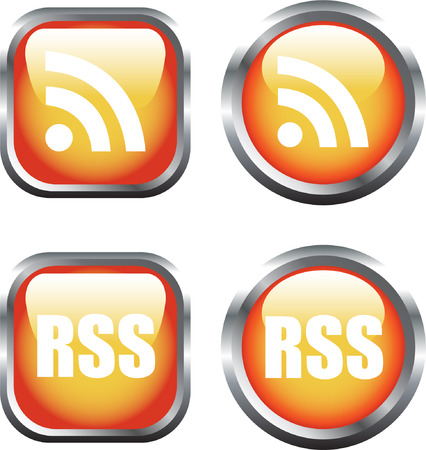 A Colourful Selection of RSS Buttons Vector