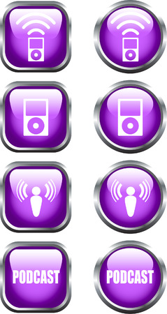 podcasting: A Selection of Colourful Podcast Icons