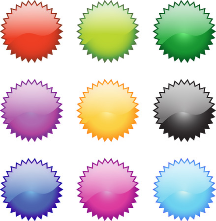 metalic design: A Colourful Selection of Web Buttons Illustration