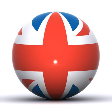 A 3D Rendered Union Jack Globe