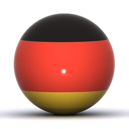 A 3D Rendered German Flag Globe photo