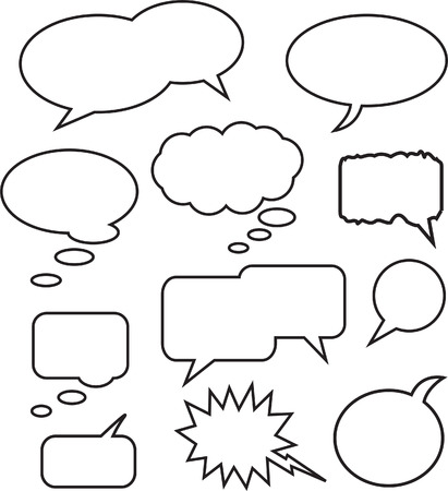 A Collection of Vector Speech Bubbles