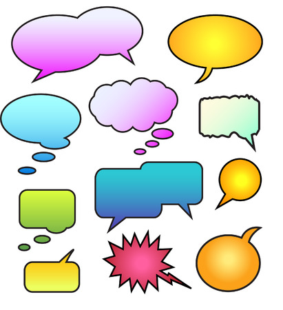A Colorful Set of Vector Speech Bubbles