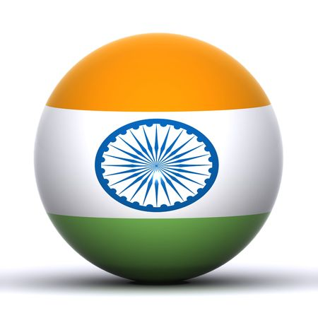An Indian Flag  Globe Stock Photo