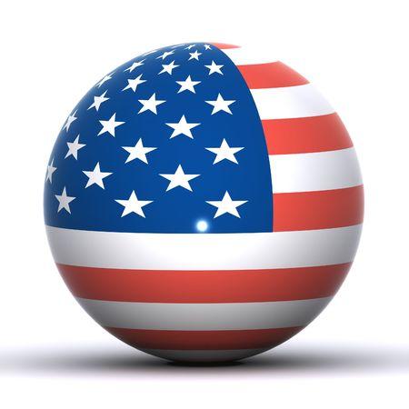 An American Flag  Globe Stock Photo