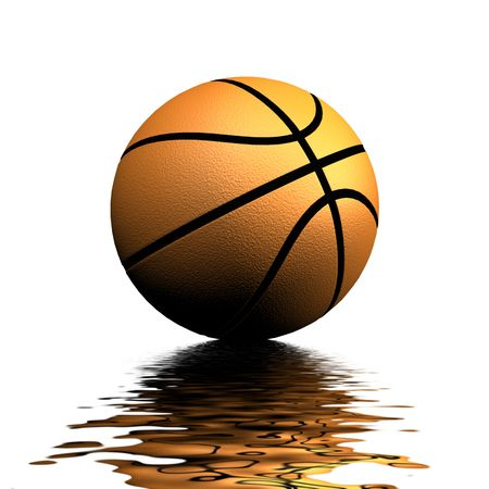 nba: A 3d Rendered Basketball Illustration Stock Photo