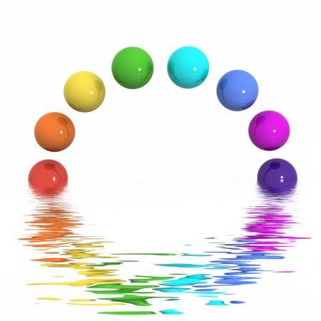 A Colourful Abstract Rainbow Illustration