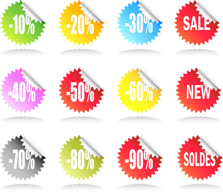 A Colourful Set of Sale Stickers
