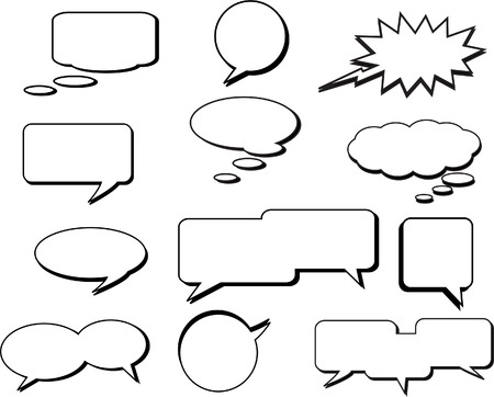 hablando: Colecci�n de vectores de la base Speech Bubbles Vectores