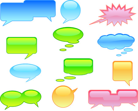 conversing: A colourful selection of Vector Speech Bubbles Illustration