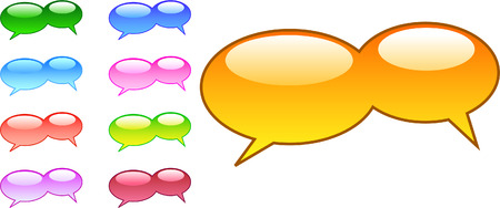 A Collection of Vector Based Speech Bubbles Vector