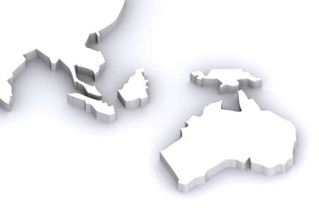 A 3d Rendered Image of Australia and Japans Map photo