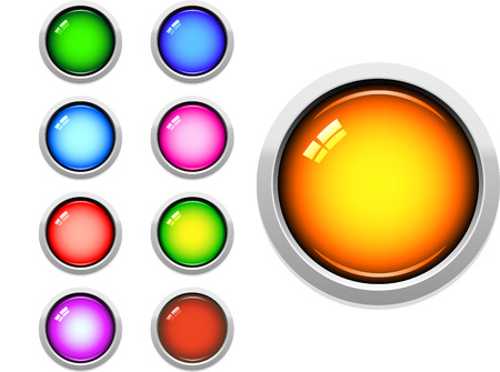 A Colourful Selection of Glossy Web Buttons Vector