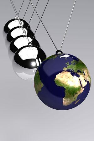 A 3d Rendered Global Business Time Illustration Standard-Bild