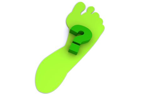 How green is your footprint?  3d rendered image Stock Photo - 4429727