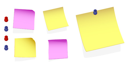 A Colourful Illustration of a set of Adhesive Notes Stock Vector - 4464673