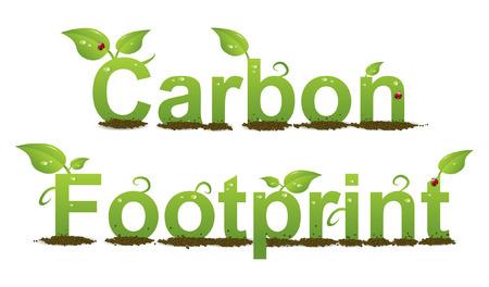 カラフルな炭素フット プリントのロゴ イラスト