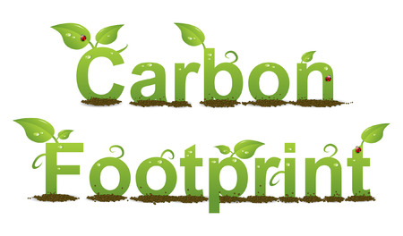 A Colourful Carbon Footprint Logo Illustration Vector