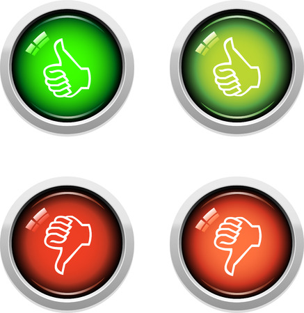 A Colourful Thumbs Up/Down Icon Set