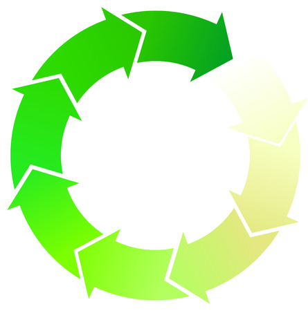 fleche verte: A Colourful Green Arrow Circulaire Illustration Illustration