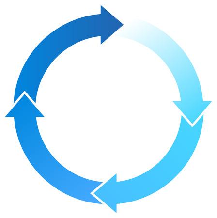 カラフルな矢印円周配置図  イラスト・ベクター素材