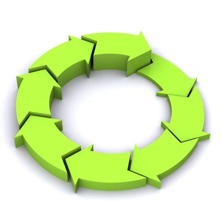 Una colorida rendidas 3D Flechas Ilustración