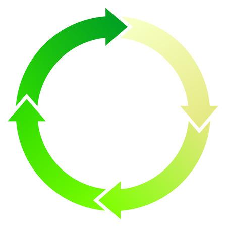 A Colourful Circular Green Arrow Illustration Vector