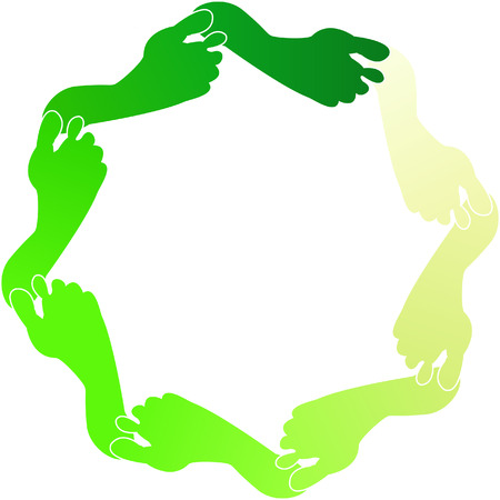 ozone friendly: A Colourful Vector Green Footprint Illustration