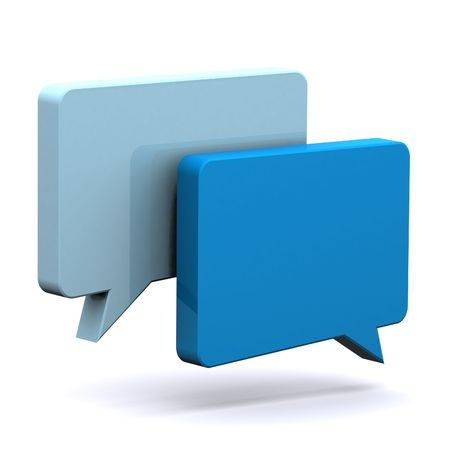 A 3d Rendered Illustration of a Set of Speech Bubbles Stock Photo
