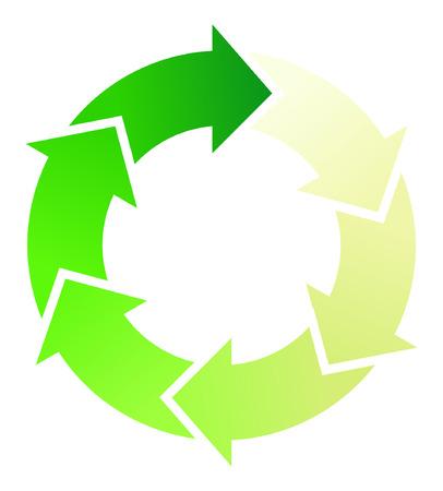 A Colourful Circular Arrow Illustration Stock Vector - 5327033