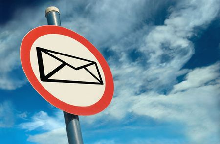 webmail: A Colourful Sign showing Email against a Stunning Cloudscape