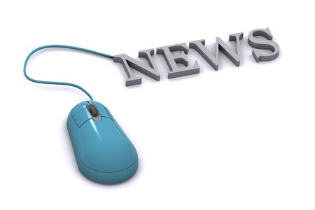 A Colourful News Concept Illustration Stock Photo
