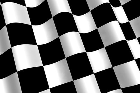 A 3d Rendered Chequered Flag Illustration Stock Illustration - 6427816
