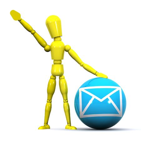 A Colourful 3d Rendered Email Man Stock Photo - 6533726