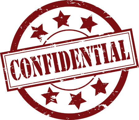 A Confidential Rubber Stamp Illustration