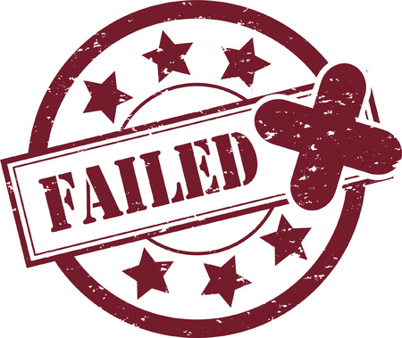 A Failed Rubber Stamp Illustration Vector