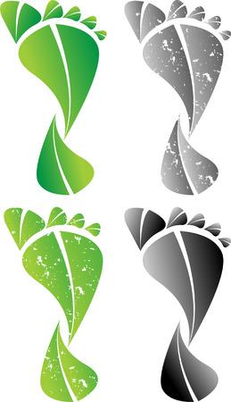 カラフルな炭素フット プリント イラスト