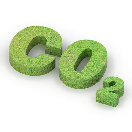 カラフルな 3 d レンダリングされた炭素フット プリント イラスト