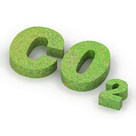 dioxide: A Colourful 3d Rendered  Carbon Footprint Illustration