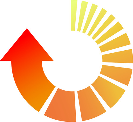 cycle arrows: A Colourful Vector Cicular Arrow Illustration