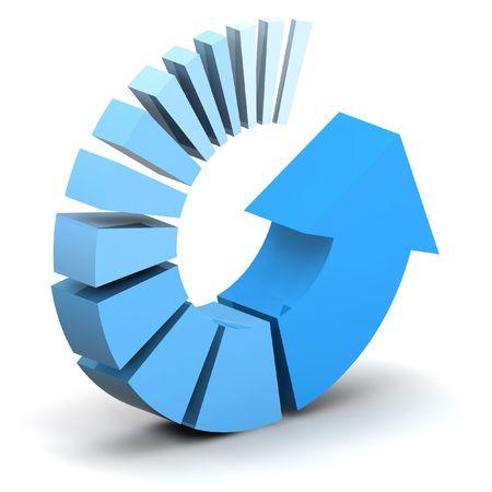 色鮮やかな青色の矢印の図