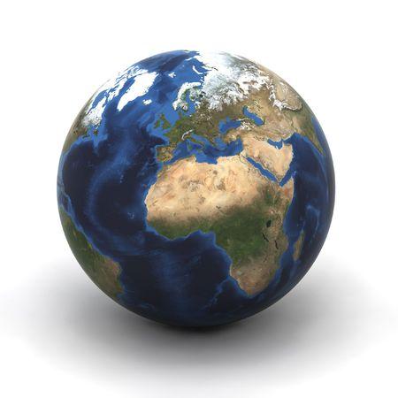 カラフルな 3 d レンダリングされた地球 (ヨーロッパ) イラスト