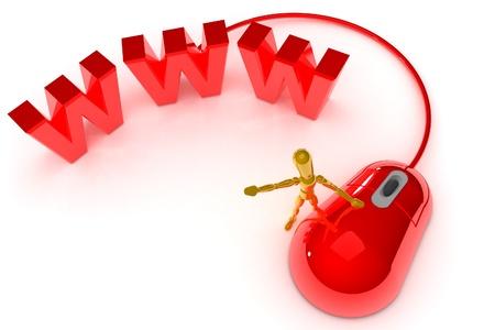 A Colourful 3d Rendered Internet Concept Illustration illustration