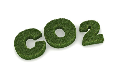 carbon neutral: A Colourful 3d Rendered CO2 Rendered Illustration