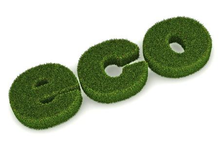 A Colourful 3d Rendered 'Eco' Concept Illustration Standard-Bild