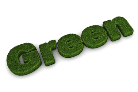 co2 neutral: A Colourful 3d Rendered Green Concept Illustration Stock Photo