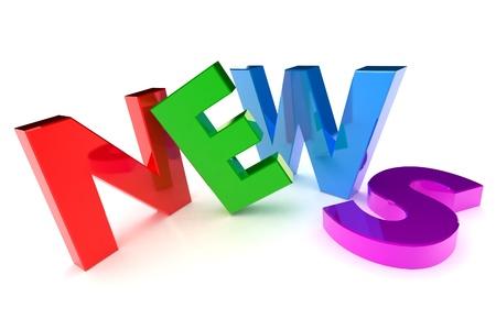 icone news: Un 3d color� rendu � News � Concept Illustration Banque d'images