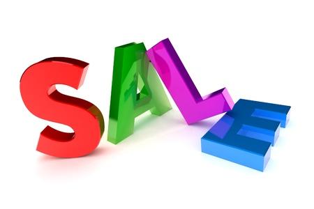 A Colourful 3d Rendered 'Sale' Concept Illustration Stock Illustration - 8596239