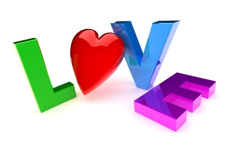 A Colourful 3d Rendered 'Love' Concept Illlustration Stock Photo - 8596243