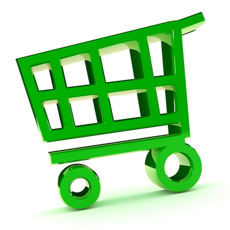 A Colourful 3d Rendered Shopping cart Illustration Stock Illustration - 8994716